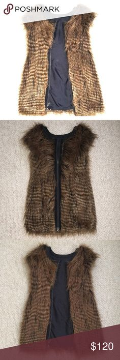 New Opening Ceremony furry vest dress This is brand new without tags. Never worn. It is faux fur. Can be worn unzipped like a vest over jeans or can zip all the way as a dress Opening Ceremony Jackets & Coats Vests