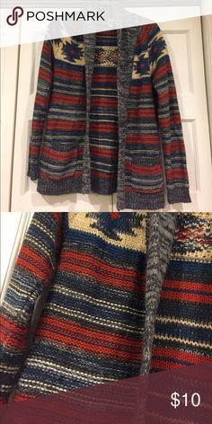 Roxy Sweater Cardigan Mutli color sweater Cardigan, some wear, open to offers! Roxy Sweaters Cardigans