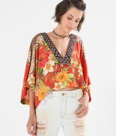 blusa floral atacama