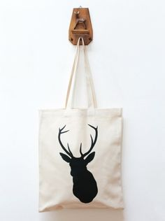 canvas totebag antlers / stag inspiration