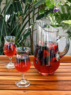 Vanilla Berry Sparkling Sangria Recipe with Rosé - A sweet sparkling sangria recipe with fresh berries, rosé, rum, sparkling water and vanilla bean.