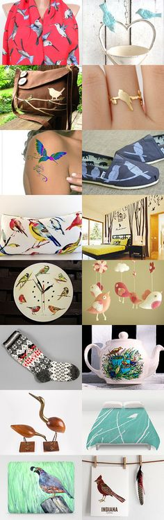 Birds in the sky by Alena on Etsy--Pinned with TreasuryPin.com