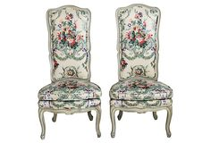 French-Style Slipper    Chairs, Pair on OneKingsLane.com