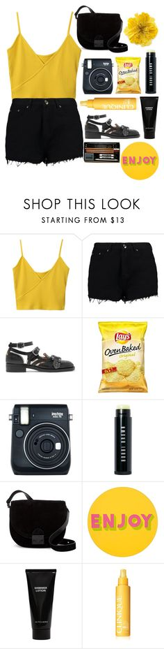 """""""and it was called yellow"""" by yaszczmin ❤ liked on Polyvore featuring Boohoo, Gucci, Fuji, Bobbi Brown Cosmetics, Loeffler Randall, Lisa Perry, Witchery and Clinique"""