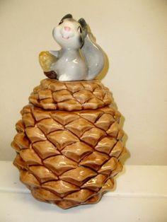 Vintage Metlox Pine Cone Squirrel with Nut Cookie Jar Made in U s A | eBay