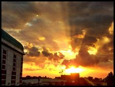 Sean Patterson caught the setting sunbeams from the O2 centre looking towards West Hampstead