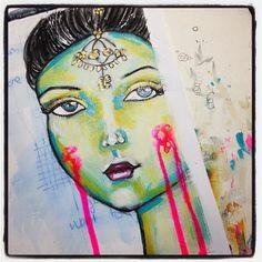 #artjournal #artjournaling #mixedmedia #indian #whimsical #irisimpressionsart #beabitmoreyou