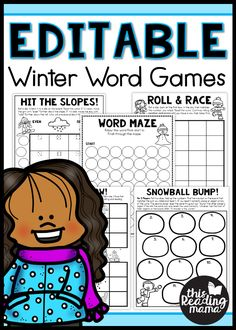 Editable Winter Word Games - This Reading Mama