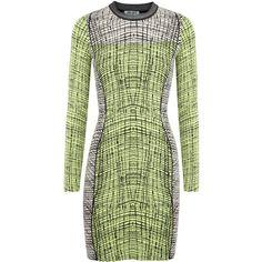 8e726ea0 KENZO Lime and black jacquard dress ($275) ❤ liked on Polyvore featuring  dresses,