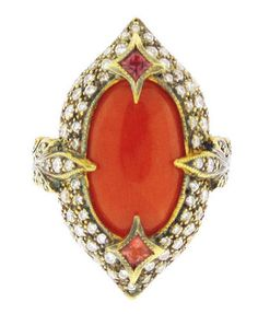cathy waterman coral ring