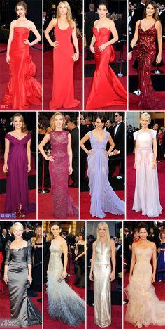 Oscars 2011 - biggest colour trends.