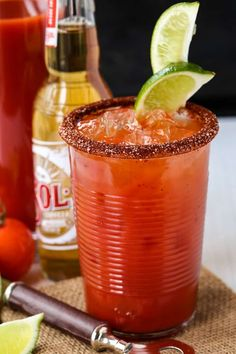 This Michelada recipe is a little bit spicy and a whole lot delicious! Serve this drink for happy hour or brunch! Mexican Cocktails, Fun Cocktails, Party Drinks, Limeade Drinks, Michelada Recipe, Lime Beer, Pineapple Margarita, Mexican Beer, Spicy Chicken Recipes