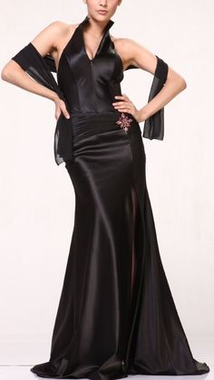 Cinderella Long Black Evening Gowns image. I LIKE this.
