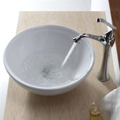 Shown with Chrome Faucet