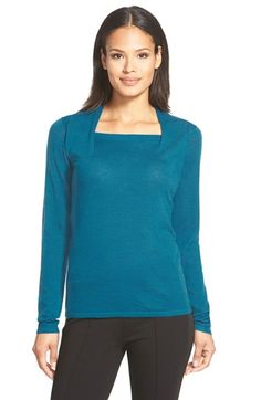 Free shipping and returns on Classiques Entier® Merino Envelope Neck Sweater at Nordstrom.com. A squared envelope neckline creates attractive dimension atop a fine-gauge merino sweater styled in a straight-cut silhouette.