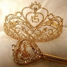 From the basic tiaras to full-blown pageant crowns, your choice of a quinceanera tiara will reveal your personality more than you think! | quinceanera tiaras | quinceanera tiaras and crowns |
