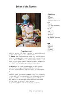 Beeren Waffel Tiramisu - Berry Waffle Tiramisu