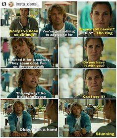 Loved this scene so much! Such good acting and lovely to see them acting like their old selves again! ~M
