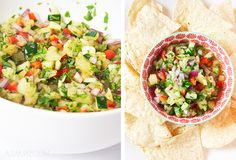 Pineapple & Cucummber Salsa NGREDIENTS: 1 cup of diced pineapple 1 cup diced cucumber 1/4 cup red bell peppers 1/4 red onion 1 handful of chopped cilantro 1/2 teaspoon diced jalapeño (or more if you want lots of spice) 2 tablespoons lime juice  Mix everything up and serve fresh!