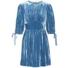 AlexaChung Velvet Dress ($505) ❤ liked on Polyvore featuring dresses, vestidos, blue, velvet dress, blue color dress, alexachung, blue velvet dress and blue dresses