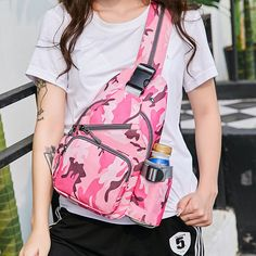 a3073673ab9a Women Nylon Camouflage Chest Bags Shoulder Bags Crossbody Bags SlingB