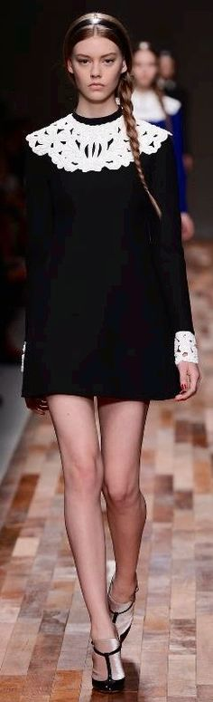 Valentino - F/W 2013-2014  I had a green velvet dress just like this as a very young girl....