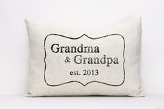 personalized pillow grandparent gift new parents by coverLove, $30.00