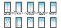 60 Series Upvc Window Frame And Mullion - Buy Upvc Window Frame ...