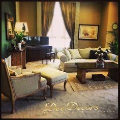 Get the living room of your dreams today! Our interior design solutions will ensure you get the perfect blend of colours, theme and style.  ديديكورز - تصاميم داخلية من إبداع مايرا فرزق الخدمات المتوفرة: - تصميم داخلي واستشارات - أقمشة ومصابيح مصممة حسب الطلب - لوحات ومرايا حصرية www.deedecors.com لمراسلتنا: Info@deedecors.com للاتصال بنا/واتساب: +971 50 1753563