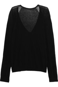 Haider Ackermann Cotton and cashmere-blend sweater | NET-A-PORTER