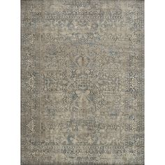 Antique Inspired Vintage Grey/ Stone Distressed Rug (6'7 x 9'2) | Overstock.com Shopping - The Best Deals on 5x8 - 6x9 Rugs