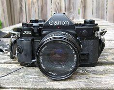 Canon A-1 camera.