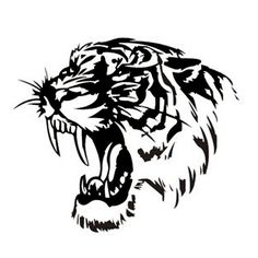 Reflective Car Sticker Decals TIGER Head Hood Of Car And Motorcycle Side Car Stickers Steller Black/Silver/Yellow Tiger Head Tattoo, Tattoo On, Tiger Stencil, Stencil Art, Tiger Drawing, Tiger Art, Car Stickers, Car Decals, Super Cars Images