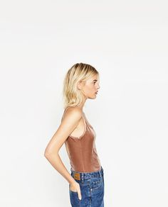 Image 3 of VELVET BODYSUIT from Zara