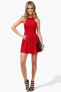 Goody Two Shoes Dress in RED: Love the Bow in the back!