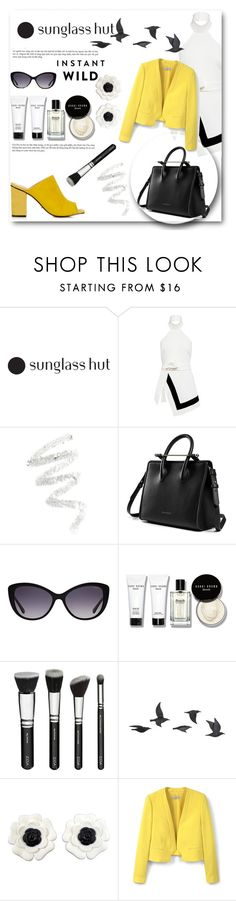 """Shades of You: Sunglass Hut Contest Entry"" by camillatinedo ❤ liked on Polyvore featuring Finders Keepers, Cynthia Rowley, Versace, Bobbi Brown Cosmetics, Jayson Home, Chanel, MANGO and Topshop"