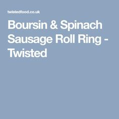 Boursin & Spinach Sausage Roll Ring - Twisted Finger Food Appetizers, Appetizer Dips, Finger Foods, Appetizer Recipes, Dip Recipes, Cooking Recipes, Twisted Recipes, Pasta Salad Italian, Sausage Rolls