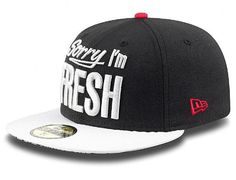 024ba55ac6d Sorry I m Fresh Black-White 59Fifty Fitted Baseball Cap by NEW ERA Fitted