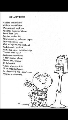 This is my favorite Shel Silverstein poem, ever. It's