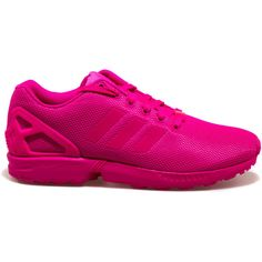 9415c1f6d adidas The ZX Flux Sneaker in Pink ( 90) ❤ liked on Polyvore featuring men s