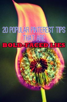 20 Popular Pinterest Tips That Are Bold-Faced Lies. this is great (I found out the hard way with this one)