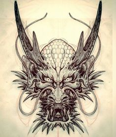 "775 Likes, 29 Comments - Yugo omniinks tattooing (@omniinks) on Instagram: ""Dragon rough sketch in progress. #正面龍 の下絵 #tattoo #tatouage #irezumi #japanesestyle #yokai #正面龍…"""