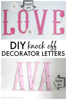 """That's My Letter: """"D"""" is for Decorator Letters, diy knock off decorator letters"""