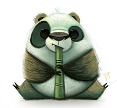 Daily Paint #671 - Panda Quickie by Cryptid-Creations ★ || CHARACTER DESIGN REFERENCES (www.facebook.com/CharacterDesignReferences & pinterest.com/characterdesigh) • Do you love Character Design? Join the Character Design Challenge! (link→ www.facebook.com/groups/CharacterDesignChallenge) Share your unique vision of a theme every month, promote your art, learn and make new friends in a community of over 16.000 artists who share your same passion! || ★