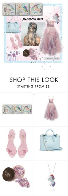 """""""Unicorn"""" by lavalu-1 ❤ liked on Polyvore featuring beauty, Marchesa, Strathberry, Belk & Co., Dogeared and unicornhair"""