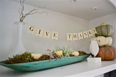 Fall shelf design including free banner on funyumandfrills.com