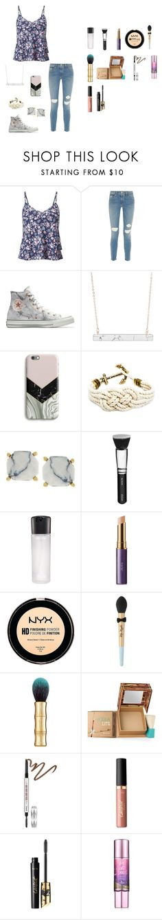 """""""Missing summer right now"""" by maddikate-1 on Polyvore featuring Miss Selfridge, Frame, Converse, Harper & Blake, Vince Camuto, ZOEVA, MAC Cosmetics, tarte, NYX and Too Faced Cosmetics"""