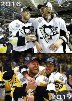 2016 & 2017 Stanley Cup Champions & best friends Patric Hornqvist and Carl Hagelin