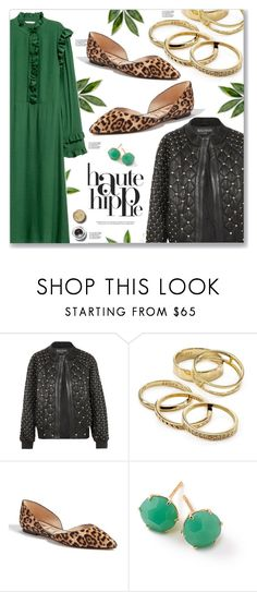 """Must Haves Autumn"" by peony-and-python ❤ liked on Polyvore featuring Haute Hippie, Balmain, Kendra Scott, Sam Edelman, Ippolita and Bobbi Brown Cosmetics"
