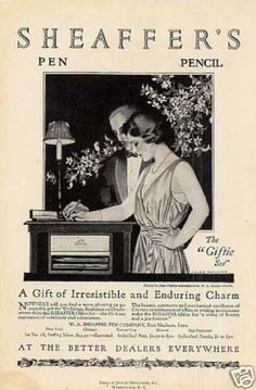 Sheaffer's Fountain Pen Ad Coles Phillips (1921)